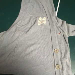 Gray hollister cardigan